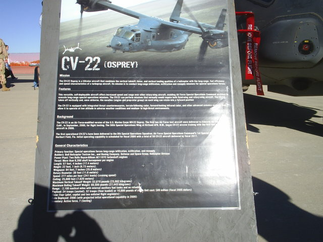 USAF CV-22 Specifications